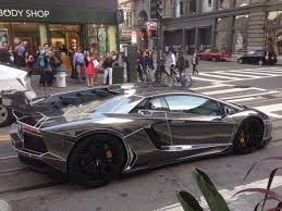 lamborghini custom paint job black chrome