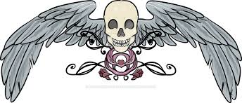 skull wings tattoo design by mountainlaurelarts on deviantart