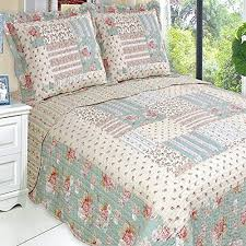 Queen Bed Coverlet Set Get Quilt Coverlet Set Full Queen Double Size Country Cottage