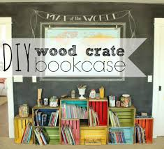 Wooden Crate Shelf Diy by Diy Wood Crate Bookcase U2014 The Pleated Poppy