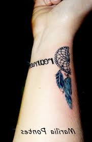 small dream catcher tattoo on wrist pictures to pin on pinterest