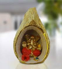 Home Decor Online Shops Ganesha Inside Golden Nariyal Online Gift Shopping India