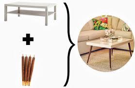 Hacker Table Lack Turned Mid Century Modern Coffee Table Ikea Hackers Ikea