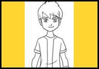 draw ben 10 cartoon characters drawing tutorials