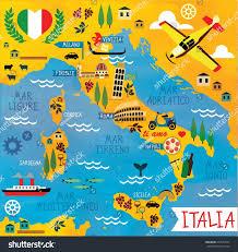 Maps Of Italy Cartoon Map Italy Stock Vector 254577991 Shutterstock