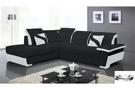 canap angle convertible noir canape d angle blanc et noir canapac dangle en cuir pu zoac