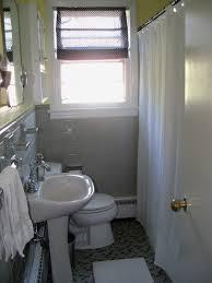 grey white yellow bathroom