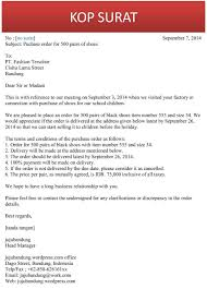 contoh business letter cover template for job application surat