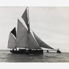 early silver gelatin photographic print by beken of cowes brixam