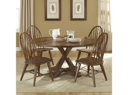 Liberty Furniture Dining Table by Liberty Furniture Hearthstone Five Piece Round Top Pedestal Table