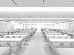3d sketch architecture modern conference room classroom 1 stock