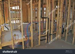 Plumbing A House by Plumbing Inside House Frame Stock Photo 7279612 Shutterstock