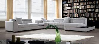 grey fabric modern living room sectional sofa w wooden legs microfiber modern sectional sofa w adjustable headrests
