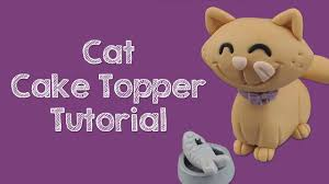 cat cake topper fondant cat cake topper tutorial by sweetsugarcraft