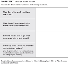 worksheet getting a handle on your time mom incorporated the book