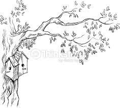 bird houses on a tree vector art thinkstock