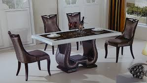 Marble Dining Room Table And Chairs Dining Table White Marble Dining Table And Chairs Marble