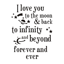 i you to the moon and back quotes wall sticker