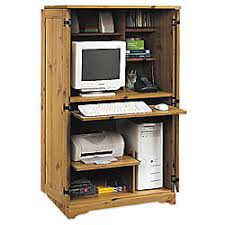 Computer Armoire Office Depot Sauder Computer Armoire 54 18 H X 30 34 W X 21 D Spiced Pine By