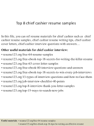 Sample Resume For Cashier by Top 8 Chief Cashier Resume Samples 1 638 Jpg Cb U003d1432803065