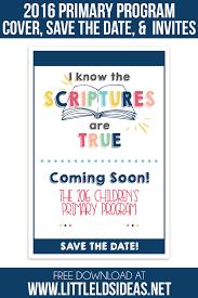 2016 lds primary program invitations program cover lds