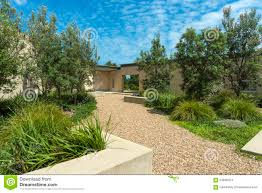 passive solar house garden editorial stock photo image 64848473