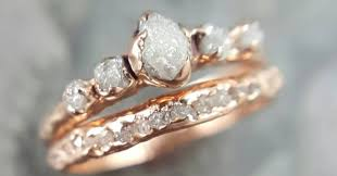 gemstone wedding rings images 17 raw stone engagement rings that will appeal to the offbeat jpeg
