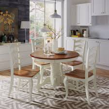 the french countryside oak and rubbed white 5pc dining set