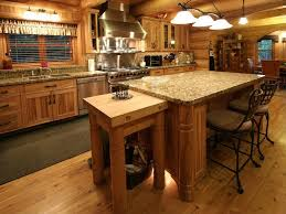 rustic kitchen island rustic kitchen with flush light u0026 flat panel cabinets zillow