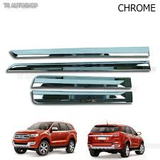 chrome line side door cladding molding fit ford everest suv 2 2