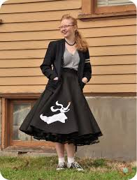 50s Halloween Costumes Poodle Skirts Nightmare Christmas Skirt Spin Classic Poodle