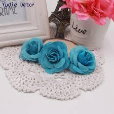 wholesale 50pcs 5cm soft silk rose for wedding home christmas