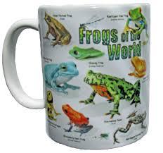frogs of the world 11 oz ceramic coffee mug