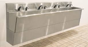 wall mount stainless steel sink all stainless steel wall mount cleanroom sinks are iso compatible