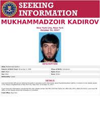 Seeking Poster Fib Poster Seeking Information On Mukhammadzoir Kadirov