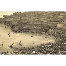 map of lake geneva wi 4 vintage posters historic map of lake geneva wisconsin 1882