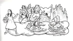 cozy wizard of oz coloring pages wizard oz coloring pages cecilymae