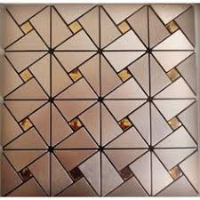 Wholesale Glass Mosaic Tile Squares Red Rose Pattern 304 by Sheet Size 305mm 305mm Thickness 4mm Collection Metallic