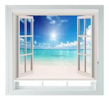 Baby Schlafzimmer Abdunkeln Aoa U0026reg Rollo Mit Motiv Fenster Mit Strandblick Amazon De Kamera