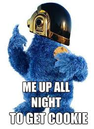 Cookie Monster Meme - cookie monster daft punk meme comics and memes