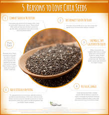 5 reasons to love chia seeds infographic live superfoods