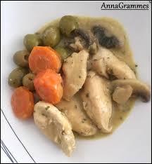 cuisine casher poulet carottes olives chignons et sauce moutarde annagrammes