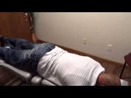 chiropractic drop table technique greeley chiropractor demonstrates thompson drop technique youtube
