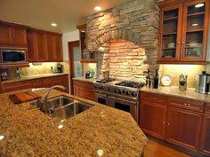 Kitchen Cabinets Greenville Sc by Stone Stove Hood Milestone Custom Homes Greenville Sc