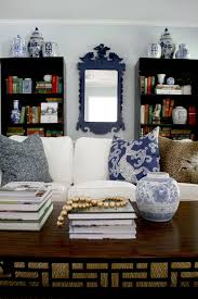 Blue Bookcases A Thrifted Find Federal Eagle Mirror Emily A Clark
