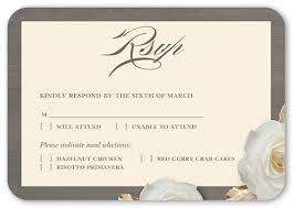 wedding invitations shutterfly flowering fondness rsvp cards wedding invitations shutterfly