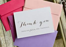 wedding shower thank you gifts bridal shower thank you cards future mrs thank you cards