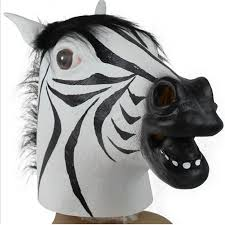 pm 861 wholesale new red face 3d animal horse head mask for