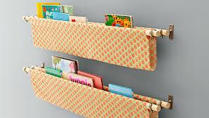 Fabric Sling Bookshelf Book Sling