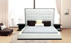 tall gridtufted headboard low gridtufted plinth bed full image
